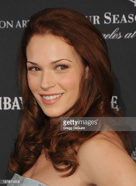 Amanda Righetti arrives at the 17th Annual BAFTA Los Angeles Awards Season Tea Party at the Four Seasons Hotel on January 15 2011 in Los Angeles...