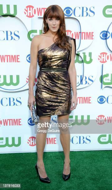 Amanda Righetti arrives at the CBS The CW Showtime Summer Press Tour Party held at The Tent on July 28 2010 in Beverly Hills California