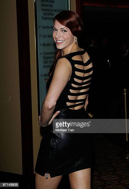Amanda Righetti arrives to the 24th Annual ASC Awards For Outstanding Achievement held at Hyatt Regency Century Plaza on February 27 2010 in Century...