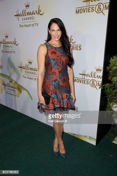 Amanda Righetti attends the 2017 Summer TCA TourHallmark Channel And Hallmark Movies And Mysteries at a private residence on July 27 2017 in Beverly...