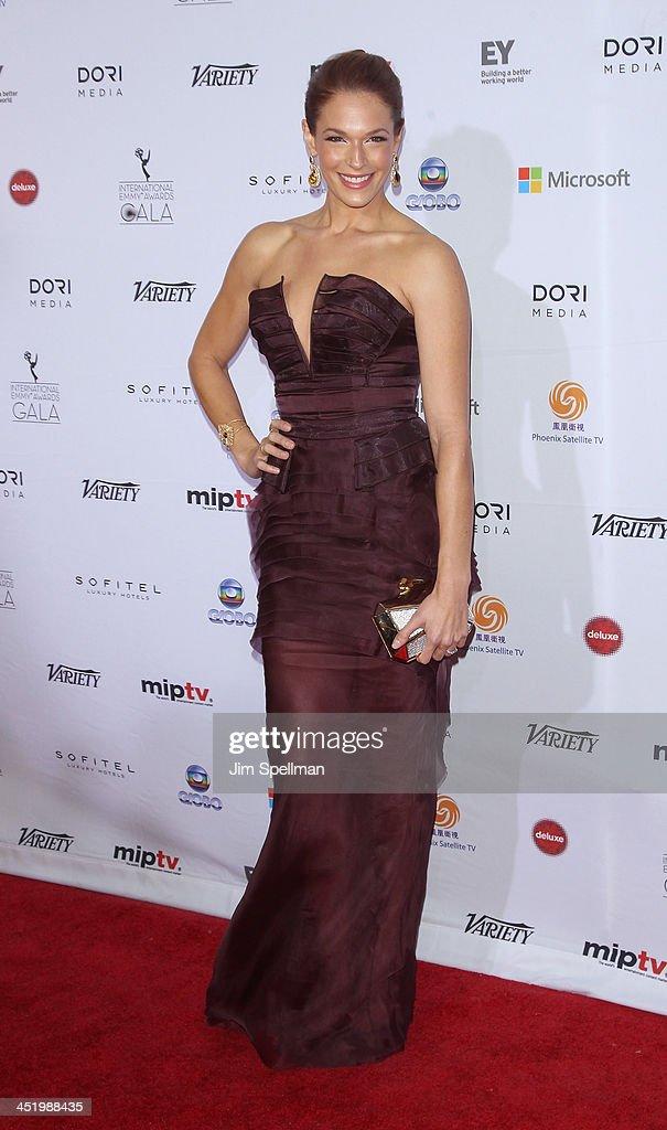 Amanda Righetti attends the 41st International Emmy Awards at the Hilton New York on November 25, 2013 in New York City.