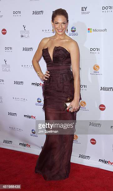 Amanda Righetti attends the 41st International Emmy Awards at the Hilton New York on November 25 2013 in New York City