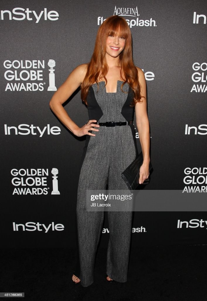 <a gi-track='captionPersonalityLinkClicked' href=/galleries/search?phrase=Amanda+Righetti&family=editorial&specificpeople=226986 ng-click='$event.stopPropagation()'>Amanda Righetti</a> attends the Hollywood Foreign Press Association (HFPA) And InStyle 2014 Miss Golden Globe Announcement / Celebration at Fig & Olive Melrose Place on November 21, 2013 in West Hollywood, California.