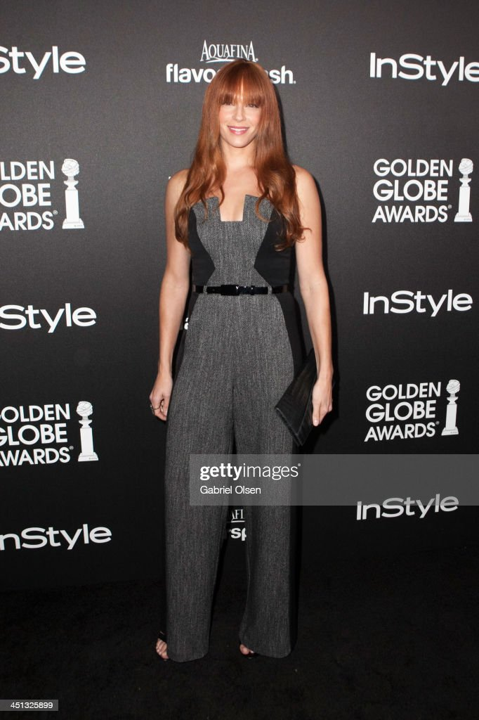 <a gi-track='captionPersonalityLinkClicked' href=/galleries/search?phrase=Amanda+Righetti&family=editorial&specificpeople=226986 ng-click='$event.stopPropagation()'>Amanda Righetti</a> attends The Hollywood Foreign Press Association (HFPA) And InStyle Celebrates The 2014 Golden Globe Awards Season at Fig & Olive Melrose Place on November 21, 2013 in West Hollywood, California.