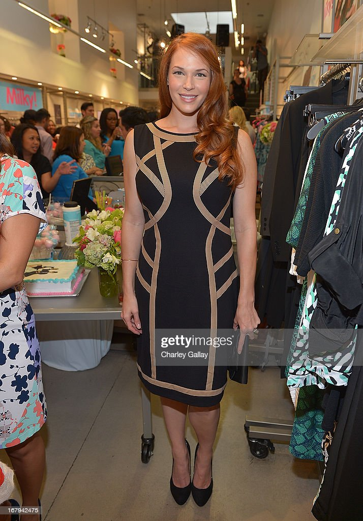 <a gi-track='captionPersonalityLinkClicked' href=/galleries/search?phrase=Amanda+Righetti&family=editorial&specificpeople=226986 ng-click='$event.stopPropagation()'>Amanda Righetti</a> attends the Milky! launch event at A Pea In The Pod on May 2, 2013 in Beverly Hills, California.