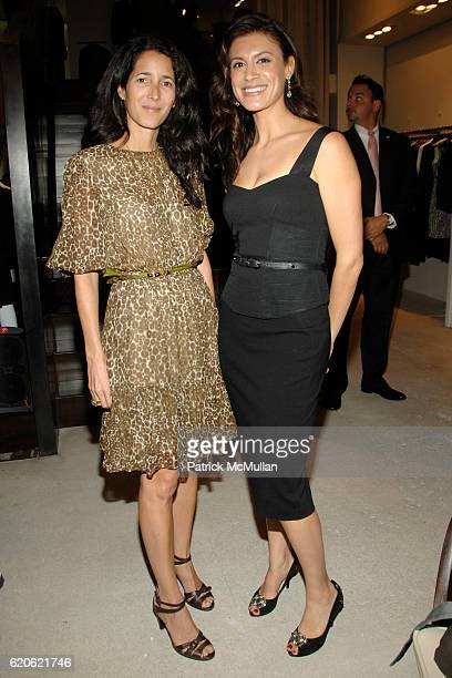 Amanda Ross and Tatiana Boncompagni attend VOGUE and ELIE TAHARI host cocktails to celebrate TATIANA BONCOMPAGNI's new book GILDING LILY at Elie...