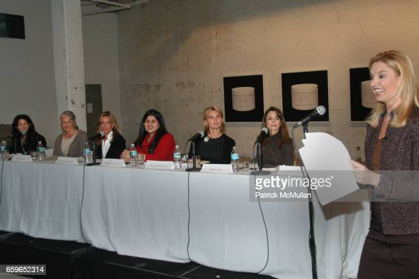Amanda Ross Cindy Joseph Rachel Hovnanian Sharmeen Gangat Dr Olivia Flatto Donna Fish and Laurie Dhue attend POWER AND BURDEN OF BEAUTY By RACHEL...