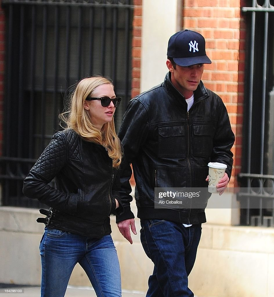 <a gi-track='captionPersonalityLinkClicked' href=/galleries/search?phrase=Amanda+Seyfried&family=editorial&specificpeople=216619 ng-click='$event.stopPropagation()'>Amanda Seyfried</a> and <a gi-track='captionPersonalityLinkClicked' href=/galleries/search?phrase=Desmond+Harrington&family=editorial&specificpeople=2301149 ng-click='$event.stopPropagation()'>Desmond Harrington</a> are seen in the West Village at Streets of Manhattan on October 17, 2012 in New York City.