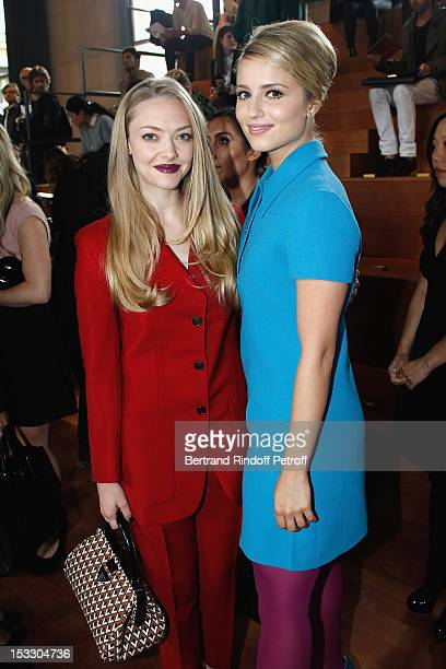 Amanda Seyfried and Dianna Agron attend the Miu Miu Spring/Summer 2013 show as part of Paris Fashion Week on October 3 2012 in Paris France