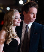 Amanda Seyfried and Eddie Redmayne attend the World Premiere of 'Les Miserables' at Odeon Leicester Square on December 5 2012 in London England