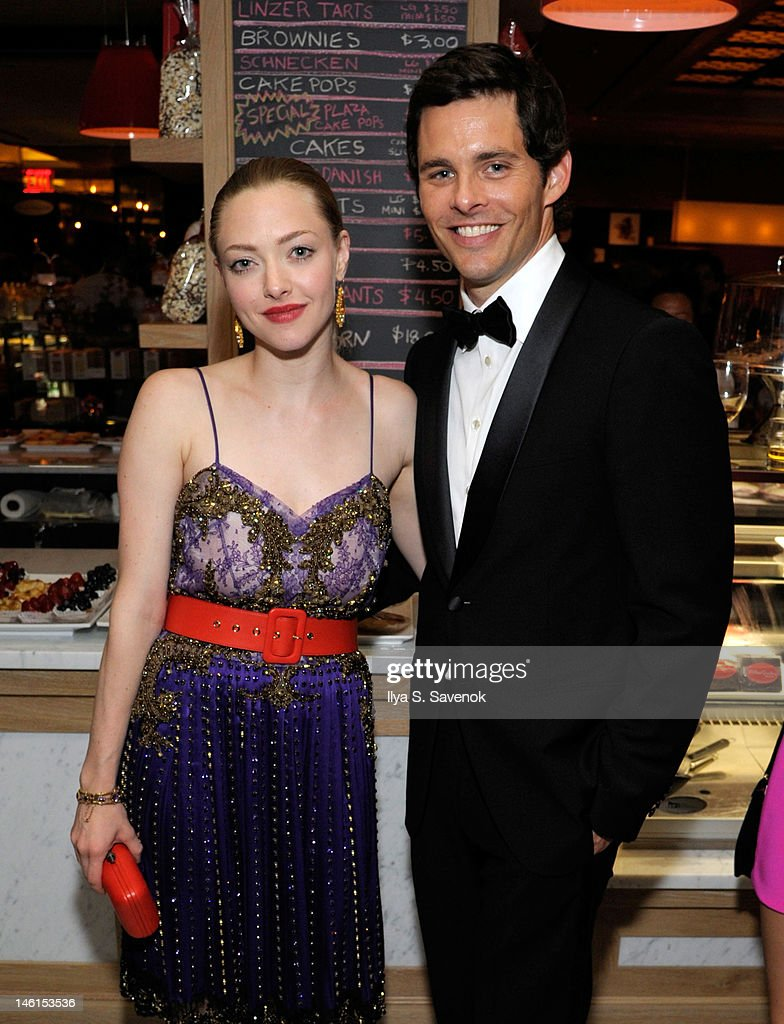 <a gi-track='captionPersonalityLinkClicked' href=/galleries/search?phrase=Amanda+Seyfried&family=editorial&specificpeople=216619 ng-click='$event.stopPropagation()'>Amanda Seyfried</a> and <a gi-track='captionPersonalityLinkClicked' href=/galleries/search?phrase=James+Marsden&family=editorial&specificpeople=206902 ng-click='$event.stopPropagation()'>James Marsden</a> attends the 66th Annual Tony Awards at The Plaza Hotel on June 10, 2012 in New York City.