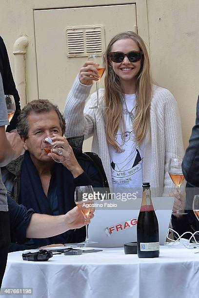 Amanda Seyfried and Mario Testino are seen shooting an advertising campaign shot by Testino on March 26 2015 in Rome Italy