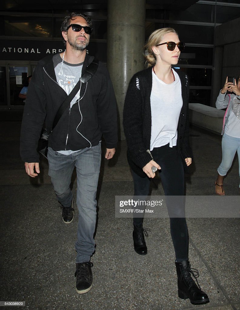 Amanda Seyfried and Thomas Sadoski are seen on June 25, 2016 in Los Angeles, California.