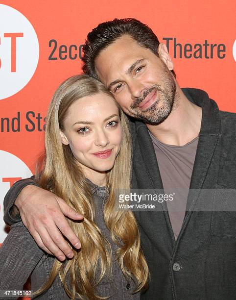 Amanda Seyfried and Thomas Sadoski attend the 'The Way We Get By' Meet Greet at Second Stage Theatre on May 1 2015 in New York City