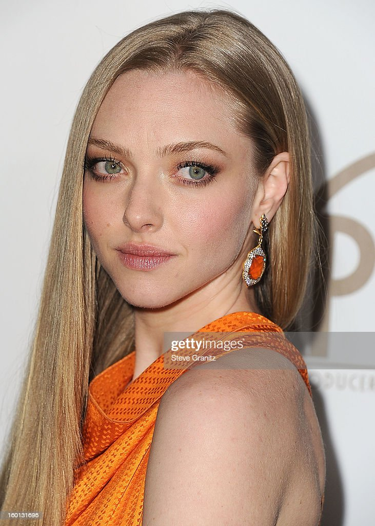 Amanda Seyfried arrives at the 24th Annual Producers Guild Awards at The Beverly Hilton Hotel on January 26, 2013 in Beverly Hills, California.