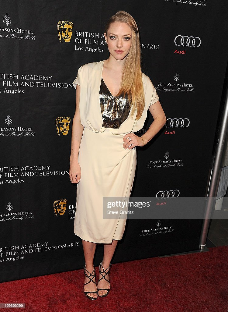 <a gi-track='captionPersonalityLinkClicked' href=/galleries/search?phrase=Amanda+Seyfried&family=editorial&specificpeople=216619 ng-click='$event.stopPropagation()'>Amanda Seyfried</a> arrives at the BAFTA Los Angeles 2013 Awards Season Tea Party at Four Seasons Hotel Los Angeles at Beverly Hills on January 12, 2013 in Beverly Hills, California.