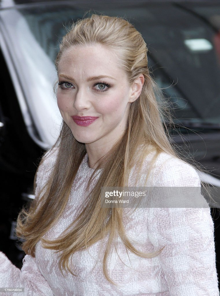 <a gi-track='captionPersonalityLinkClicked' href=/galleries/search?phrase=Amanda+Seyfried&family=editorial&specificpeople=216619 ng-click='$event.stopPropagation()'>Amanda Seyfried</a> arrives for the 'Late Show with David Letterman' at Ed Sullivan Theater on July 30, 2013 in New York City.