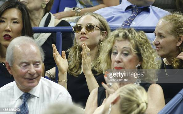 Amanda Seyfried attends the 15th Annual USTA Opening Night Gala on Day 1 of the 2015 US Open at USTA Billie Jean King National Tennis Center on...