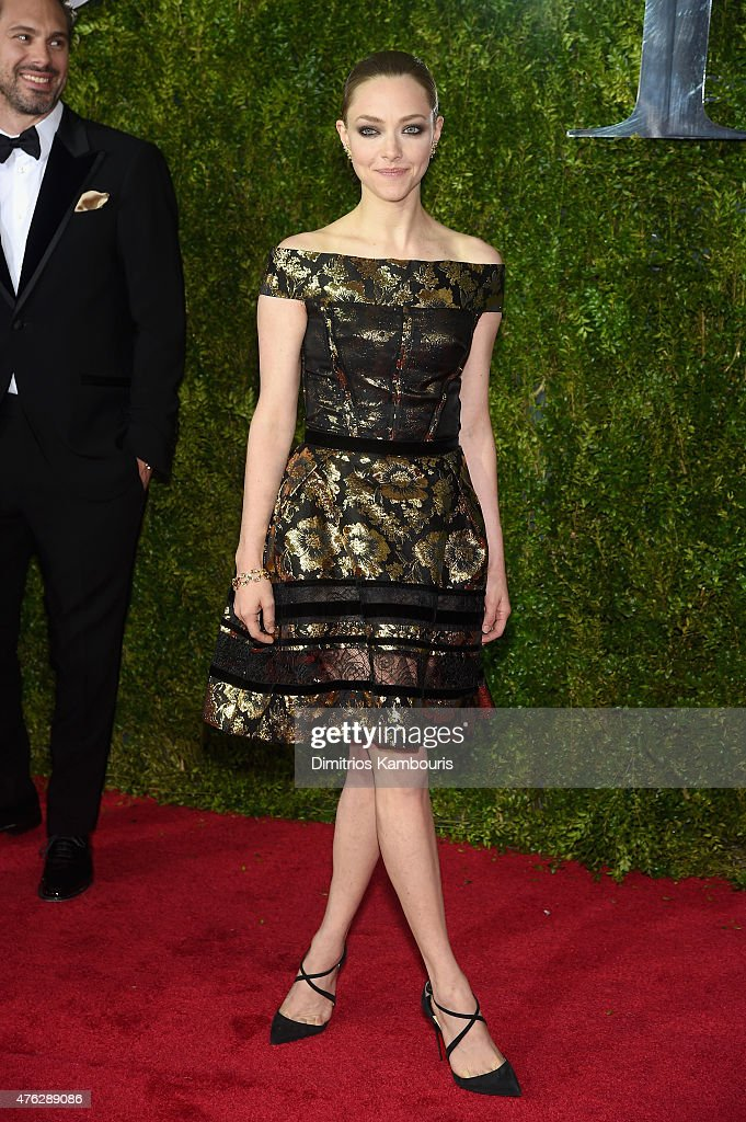 Amanda Seyfried attends the 2015 Tony Awards at Radio City Music Hall on June 7 2015 in New York City