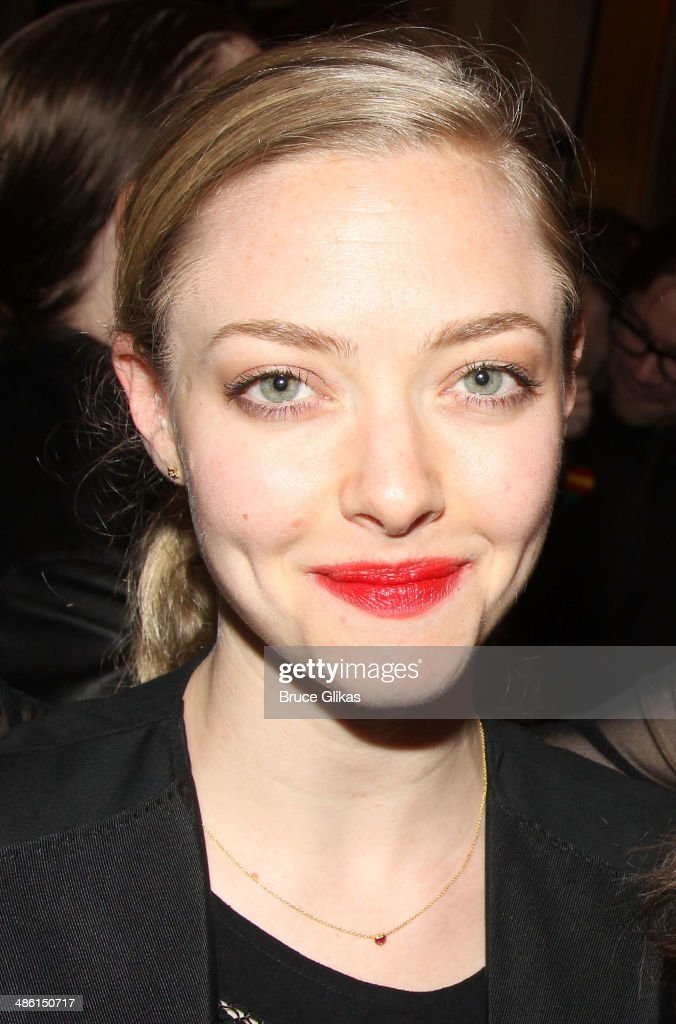 <a gi-track='captionPersonalityLinkClicked' href=/galleries/search?phrase=Amanda+Seyfried&family=editorial&specificpeople=216619 ng-click='$event.stopPropagation()'>Amanda Seyfried</a> attends the Broadway opening night of 'Hedwig And The Angry Inch' at The Belasco Theatre on April 22, 2014 in New York City.