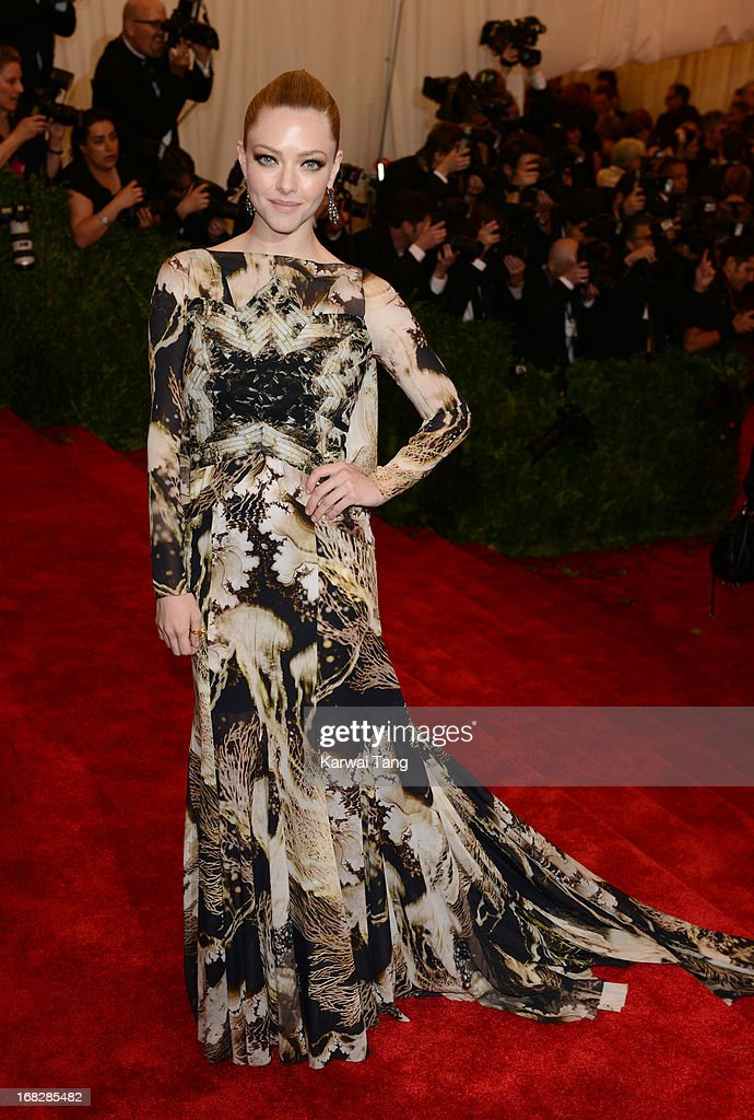 Amanda Seyfried attends the Costume Institute Gala for the 'PUNK: Chaos to Couture' exhibition at the Metropolitan Museum of Art on May 6, 2013 in New York City.