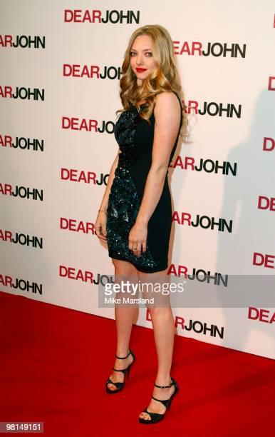 Amanda Seyfried attends the gala screening of 'Dear John' on March 30 2010 in London England