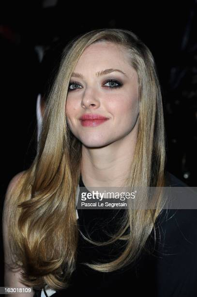 Amanda Seyfried attends the Givenchy Fall/Winter 2013 ReadytoWear show as part of Paris Fashion Week on March 3 2013 in Paris France