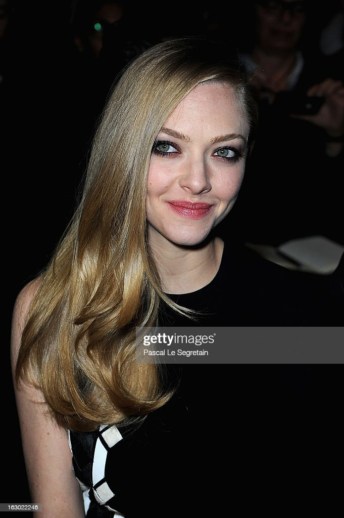 <a gi-track='captionPersonalityLinkClicked' href=/galleries/search?phrase=Amanda+Seyfried&family=editorial&specificpeople=216619 ng-click='$event.stopPropagation()'>Amanda Seyfried</a> attends the Givenchy Fall/Winter 2013 Ready-to-Wear show as part of Paris Fashion Week on March 3, 2013 in Paris, France.