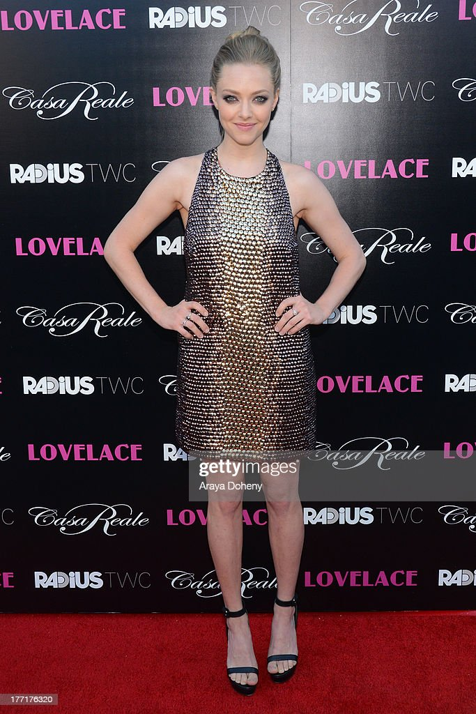 <a gi-track='captionPersonalityLinkClicked' href=/galleries/search?phrase=Amanda+Seyfried&family=editorial&specificpeople=216619 ng-click='$event.stopPropagation()'>Amanda Seyfried</a> attends the premiere of RADiUS-TWC's 'Lovelace' at the Egyptian Theatre on August 5, 2013 in Hollywood, California.