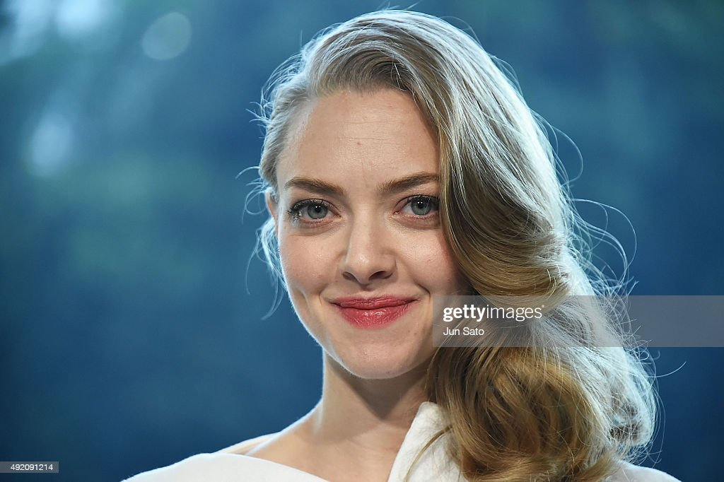 Amanda Seyfried attends the promotional event for Shiseido's Cle de Peau Beaute at the Palace Hotel on October 9, 2015 in Tokyo, Japan.