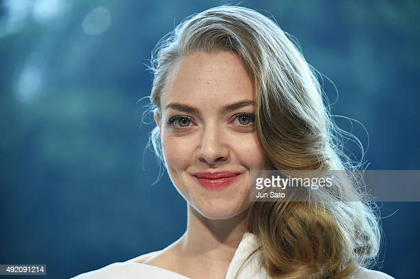 Amanda Seyfried attends the promotional event for Shiseido's Cle de Peau Beaute at the Palace Hotel on October 9 2015 in Tokyo Japan