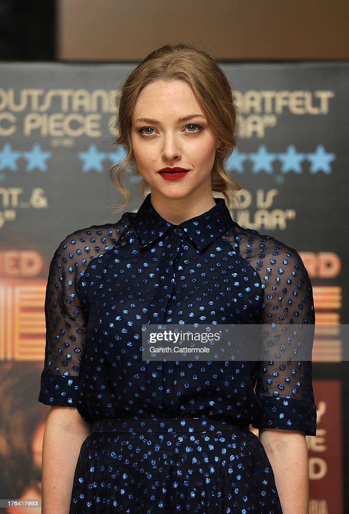 Amanda Seyfried attends the special screening of 'Lovelace' at The Mayfair Hotel on August 12, 2013 in London, England.