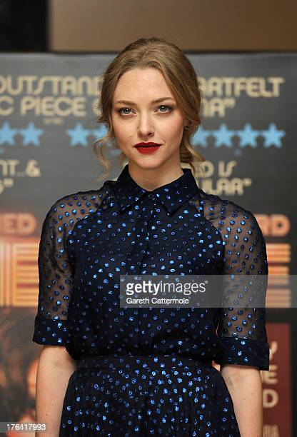 Amanda Seyfried attends the special screening of 'Lovelace' at The Mayfair Hotel on August 12 2013 in London England