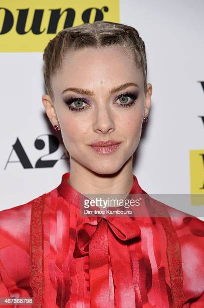 Amanda Seyfried attends the 'While We're Young' New York Premiere at Paris Theater on March 23 2015 in New York City
