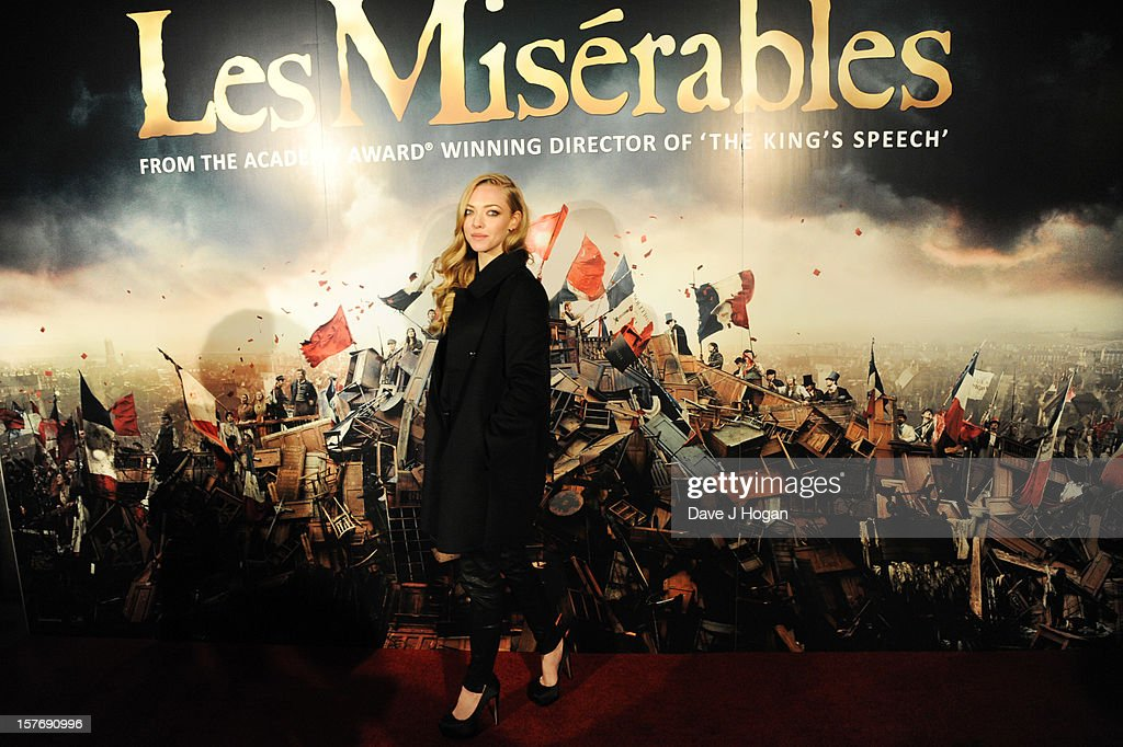 Amanda Seyfried attends the world premiere after party for Les Miserables at The Odeon Leicester Square on December 5, 2012 in London, England.