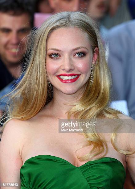 Amanda Seyfried attends the world premiere of 'Mamma Mia' the Movie at the Odeon Leicester Square on June 30 2008 in London