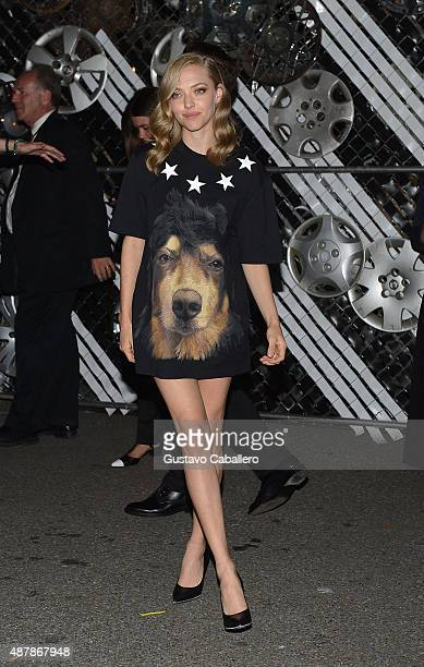 Amanda Seyfried is seen around Spring 2016 New York Fashion Week The Shows Day 2 on September 11 2015 in New York City