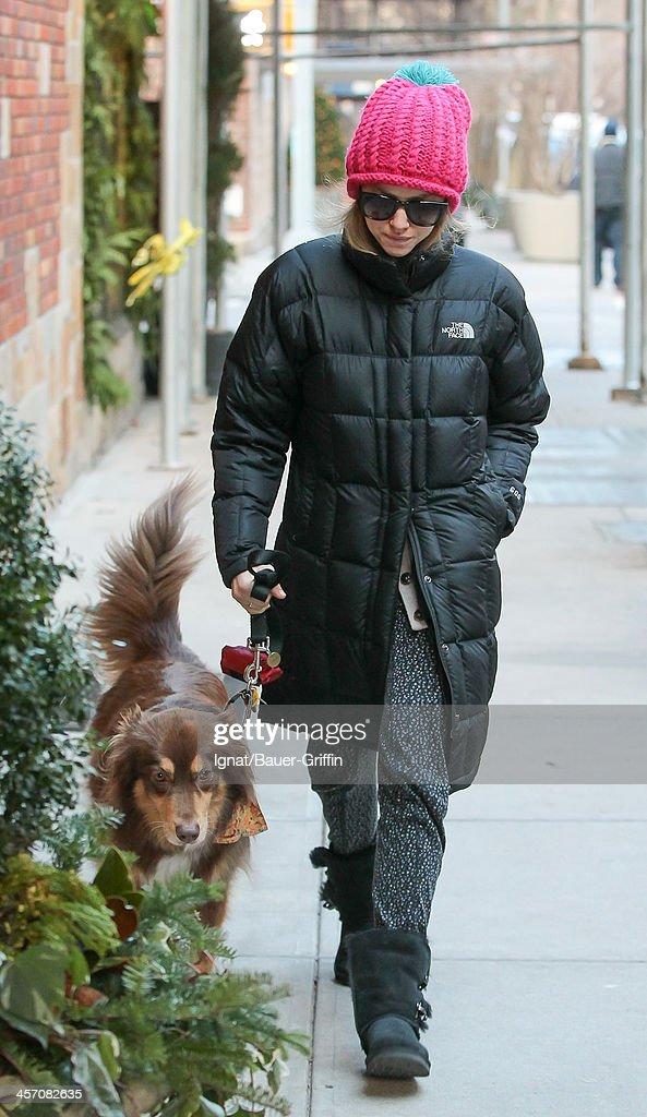 Amanda Seyfried is seen on December 16, 2013 in New York City.