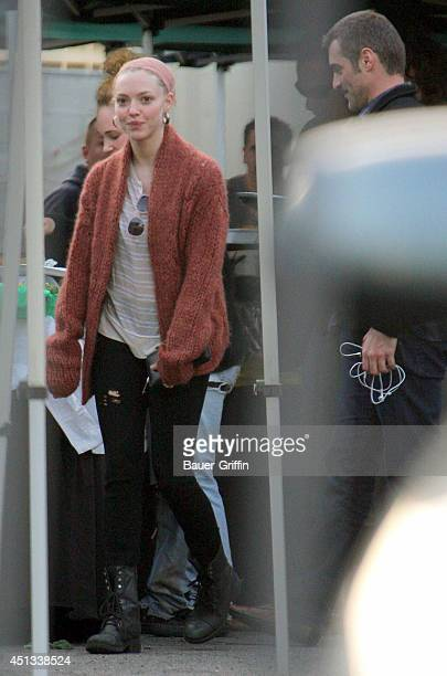 Amanda Seyfried is seen on set of the movie 'Lovelace' on January 18 2012 in Los Angeles California