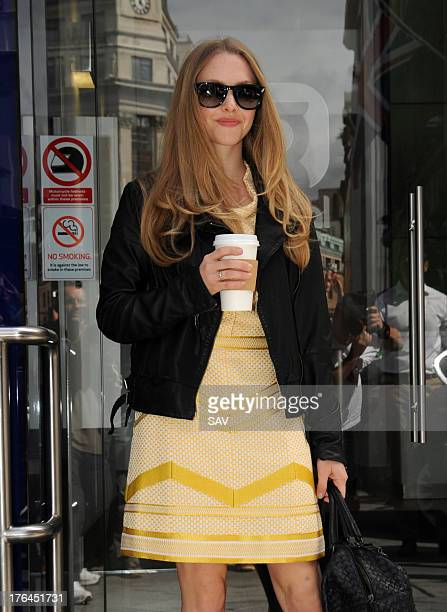Amanda Seyfried pictured at Capital radio on August 13 2013 in London England