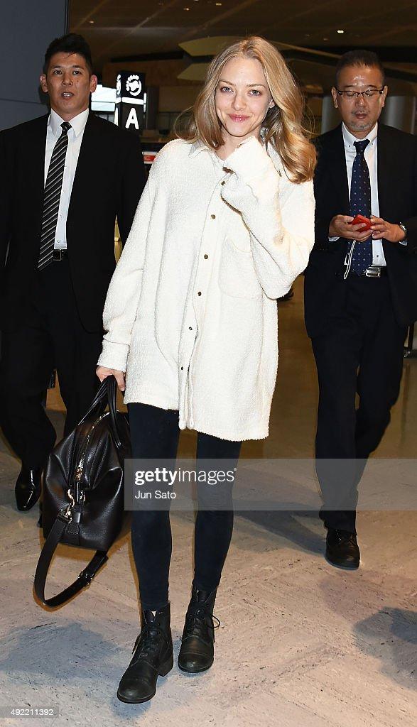 Amanda Seyfried sighting at Narita International Airport on October 11 2015 in Narita Japan