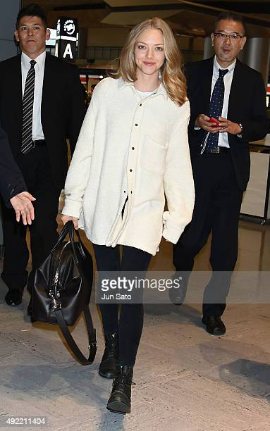 Amanda Seyfried sighting at Narita International Airport on October 11 2015 in Narita Japan
