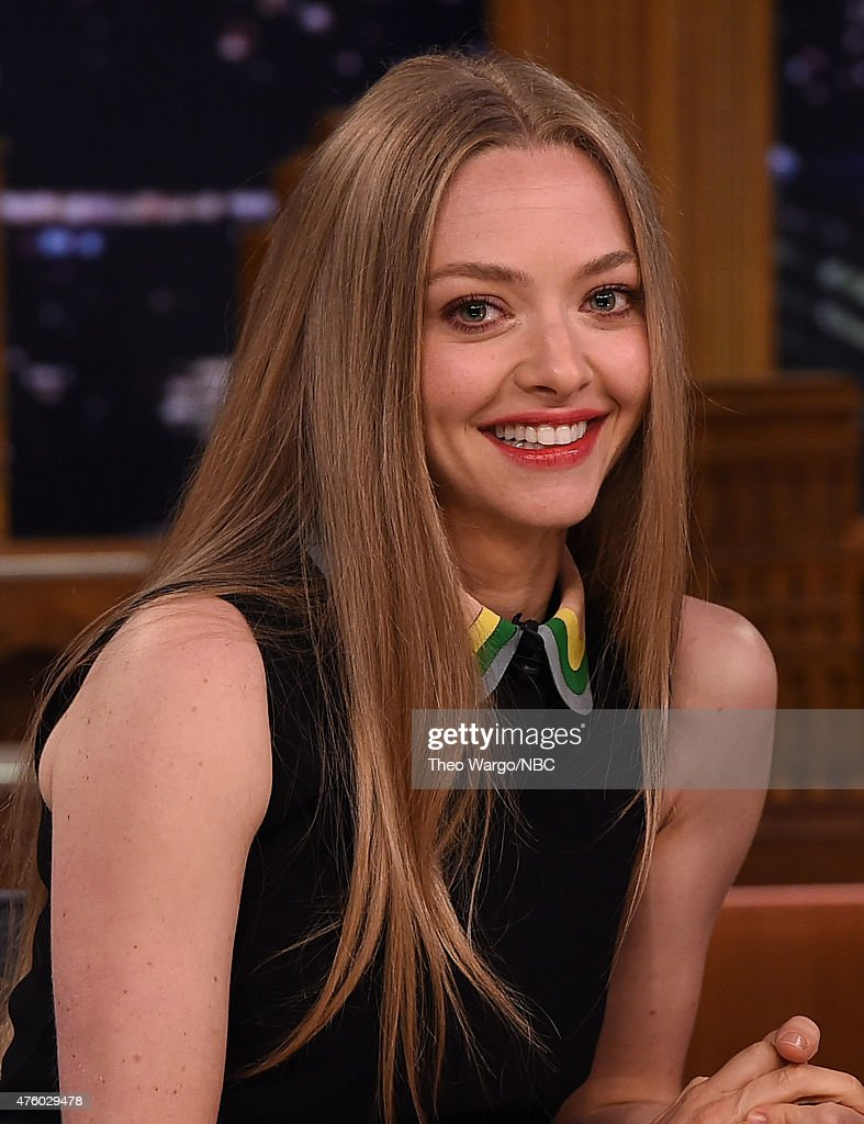 <a gi-track='captionPersonalityLinkClicked' href=/galleries/search?phrase=Amanda+Seyfried&family=editorial&specificpeople=216619 ng-click='$event.stopPropagation()'>Amanda Seyfried</a> Visits 'The Tonight Show Starring Jimmy Fallon' at Rockefeller Center on June 5, 2015 in New York City.