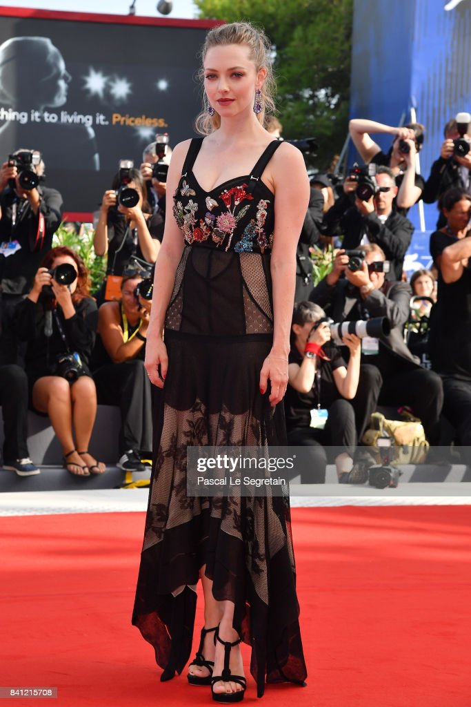 Amanda Seyfried walks the red carpet ahead of the 'First Reformed' screening during the 74th Venice Film Festival at Sala Grande on August 31, 2017 in Venice, Italy.