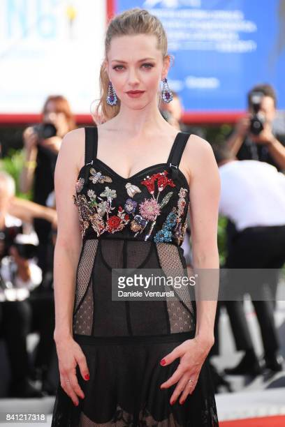 Amanda Seyfried walks the red carpet ahead of the 'First Reformed' screening during the 74th Venice Film Festival at Sala Grande on August 31 2017 in...