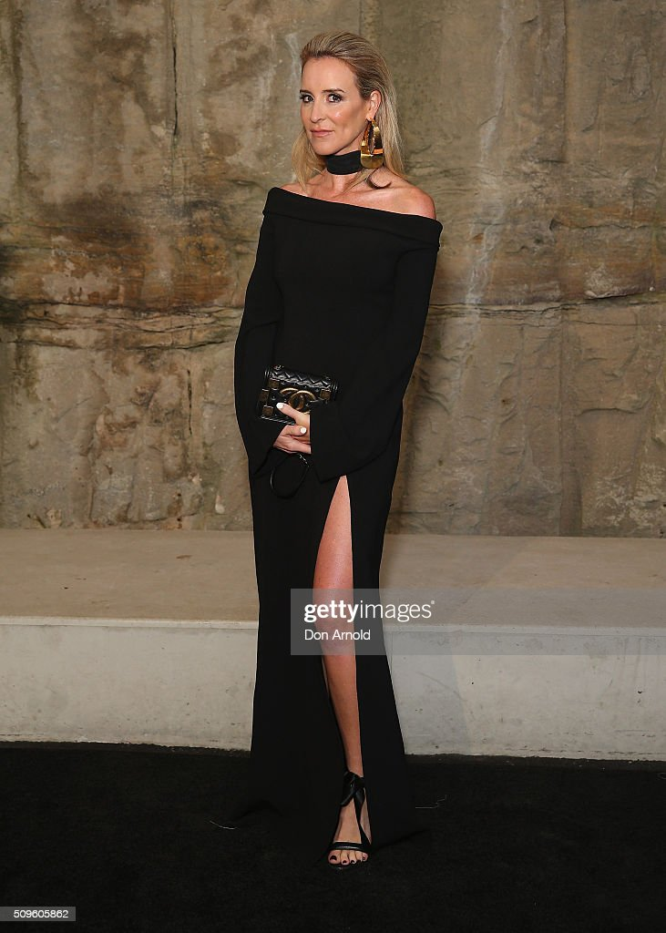 Amanda Shadforth arrives ahead of the Myer AW16 Fashion Launch at Barangaroo Reserve on February 11, 2016 in Sydney, Australia.