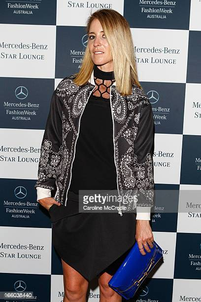 Amanda Shadforth attends the MercedesBenz Star Lounge function during MercedesBenz Fashion Week Australia Spring/Summer 2013/14 at Carriageworks on...