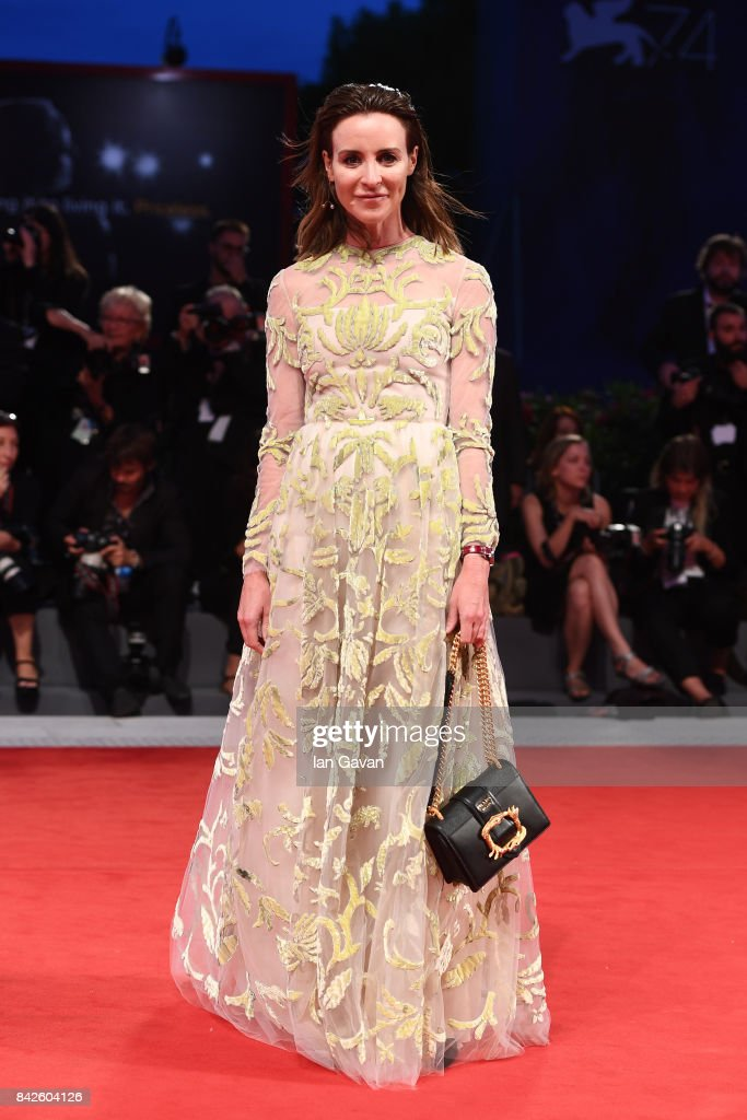 Amanda Shadforth walks the red carpet wearing a Jaeger-LeCoultre watch ahead of the 'Three Billboards Outside Ebbing, Missouri' screening during the 74th Venice Film Festival at Sala Grande on September 4, 2017 in Venice, Italy.