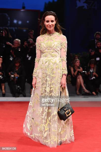 Amanda Shadforth walks the red carpet wearing a JaegerLeCoultre watch ahead of the 'Three Billboards Outside Ebbing Missouri' screening during the...