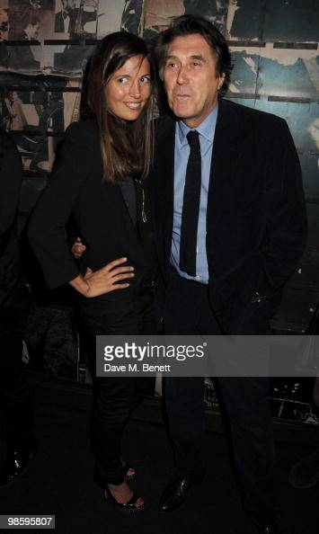 Amanda Sheppard and Bryan Ferry attend the afterparty following the opening of Gucci's popup sneaker store at Ronnie Scott's on April 21 2010 in...